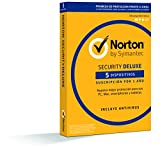 Norton Security Deluxe 2019 - Antivirus, PC/Mac/iOS/Android, 5 dispositivos, 1 año