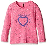 #9: United Colors of Benetton Baby Girls' T-Shirt (16A3ATQC12VDG9020Y_Pink and Blue_0Y)