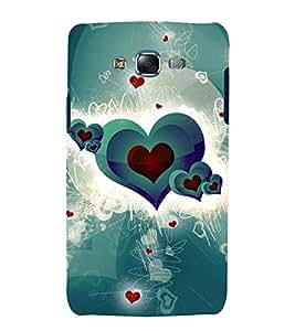 printtech Heart Pattern Back Case Cover for Samsung Galaxy E7 / Samsung Galaxy E7 E700F