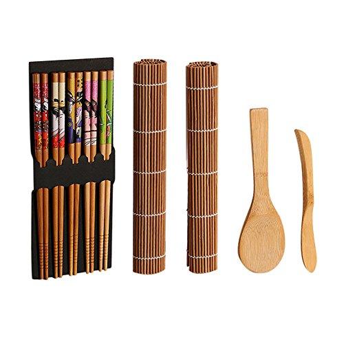 Sushi rolling mat pad cucchiaio per riso bamboo maker set diy tool kit di accessori da cucina utensile da cucina