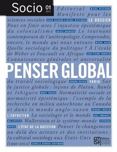 Socio, N 1, Mars 2013 : Penser global