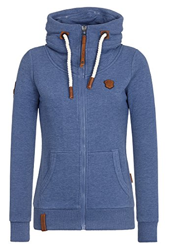 Naketano Female Zipped Jacket Monsterbumserin Blue Melange, XL