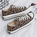 YOPAIYA Diseñador de Moda Primavera Zapatos de Lona Zapatos de Mujer Sexy Calzado Vulcanizado de Leopardo Zapatillas Suaves y cómodos Chica,38