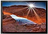 1art1 94663 Schluchten - Mittagssonne Über Dem Mesa Arch, Canyonlands National Park, USA Fußmatte Türmatte 70 x 50 cm