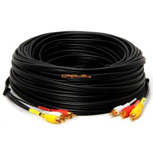 Generic GadKo 3-RCA Composite Video Audio A/V AV Cable GOlD -w 100 ft