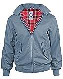 Hombres Gensen Clásico Retro Harrington Jacket Mod Nuevo Escudo - Acero azul - Small