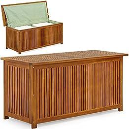 Massive Auflagenbox Holz mit Innentasche
