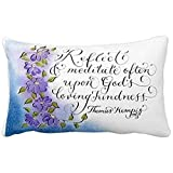 Onemaker Inspirational Quote Thomas Kempis Pastel Art Throw Pillow Covers