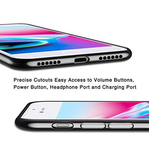 iPhone 8 Hülle, iPhone 7 Hülle,TORRAS Ultra Dünne Durchsichtig zurück Silikon Schutzhülle [Anti-kratzfeste] Transparent TPU Plating Bumper Case Soft Clear Handyhülle für iPhone 8 / iPhone 7 - Gold Schwarz