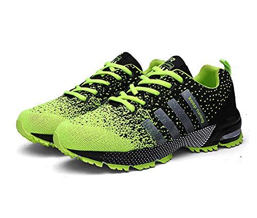 Goalsse Uomo Donna Scarpe da Ginnastica Sportive Running Fitness Sneakers Traspiranti Outdoor Respirabile Mesh Casual Sneakers (40 EU,Verde)