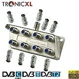 TronicXL 8fach BK Verteiler Premium TV Kabel Adapter Antennenverteiler Kabelfernsehen DVBC zb für Unitymedia Splitter