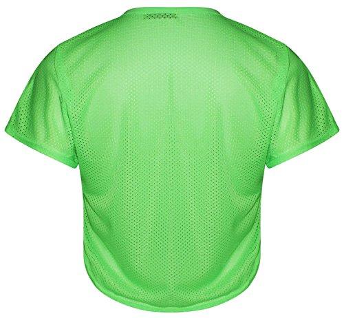 Neuer Frauen-Baseball-Crop Hoch Niedrig Oberteile 36-42 Newyork 98 Neon Green