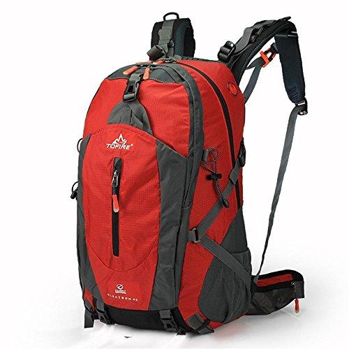 ALUK-Outdoor-wasserdichte Wander Schultern Bergsteigen Rucksack Tasche Sporttasche Rot
