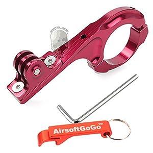 Bike Aluminium Handlebar(31.8mm) Extension Montage Adaptateur pour GoPro Hero 2 3+ (Rouge) - Porte-cl?s Inclus