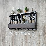 MoMo Europäische Art-Festes hölzernes Wein-Regal, an der Wand befestigte Wein-Regale, Kreatives Restaurant-Bar-Wein-Set, 80 * 13 * 42Cm,DD