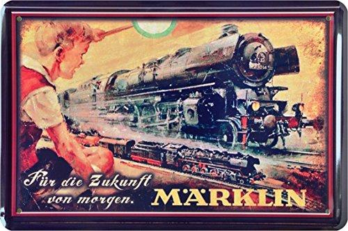 Preisvergleich Produktbild Blechschild Märklin Eisenbahn Dampflok Zug Train Lok 20 x 30cm Metal Sign XSONST72