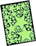 100 Leuchtende Sterne Set XXL - Wandtattoo Leuchtsterne Fluoreszierend, Wandsticker Nachtleuchtend - Glow im Dunkeln, Leuchtaufkleber, Sternenhimmel Wandaufkleber - Selbstleuchtend hohe Leuchtkraft