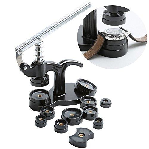Watch Repair Tool Kit–Luck Star Watch Drücken zurück Fall Closer Set, 18mm bis 50mm beobachten Rückseite Werkzeug, Elektronische Armbanduhr Fall Werkzeug Set (schwarz) Snap On Akku
