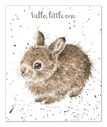 Artistico biglietto di auguri (WRE3736)-New Baby-Little Leveret