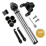 WESTGIRL Mini Fahrradpumpe mit Manometer - 300 PSI - Für Presta & Schrader -...