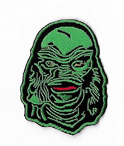 Kreatur aus der schwarzen Lagune Patch Bestickt Eisen/Nähen auf Badge DIY Aufnäher Horror Film Souvenir Kostüm Universal (Dawn Of The Dead Halloween Kostüme)