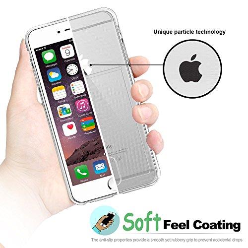 iPhone 6S Schutzhülle; Weich TPU Gel Cover, fogeek® Slim Fit TPU Hülle Case Klar stoßfest Flexible Bumper mit Card Slot Holder Cover für iPhone 6/6S 11,9cm durchsichtig