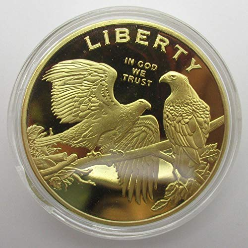 Messing Craft Exquisite American Eagle Gold Münzen Liberty Coin Collection -