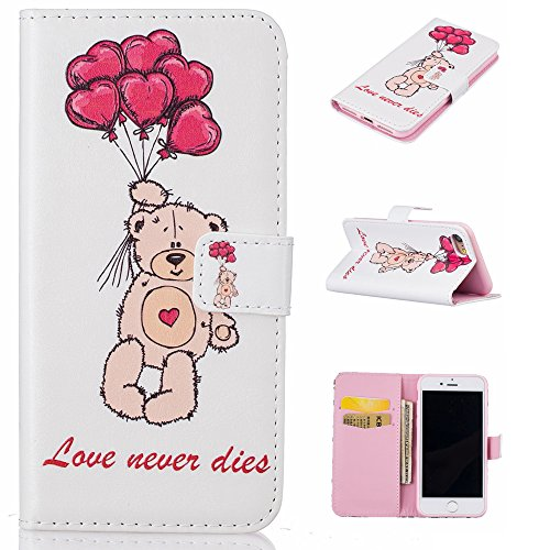Ooboom® iPhone 6S/6 Plus Hülle Flip PU Leder Schutzhülle Handy Tasche Case Cover Wallet Standfunktion mit Kartenfächer Karte Halter für iPhone 6S/6 Plus - Hirsch Love Never Dies