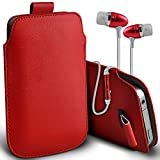 ( Red + Ear phone 152 x 76) Pouch case for Vernee Apollo
