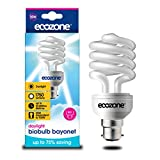 Ecozone Biobulb, Energy-Saving Daylight Bulb, Bayonet Cap B22, 25W Equivalent to 100w, 1750 Lumens, Full Spectrum, Daylight White 6500k, Uses 75% Less Energy. Ideal for suffers of S.A.D