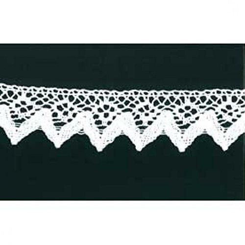 CG bord décoratif en dentelle blanc 40 mm de large, de coton pro 25 m