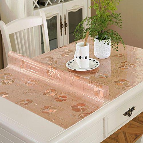 Nappes en PVC Souple en Verre Table De Mat Rectangle Opaque en Plastique Anti- (Couleur : Style2, Taille : 80 * 130cm)