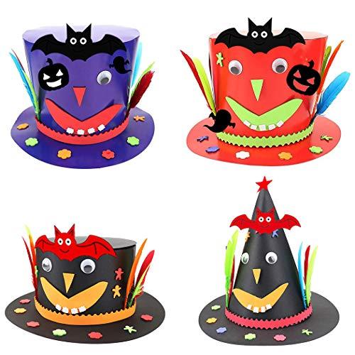 ZOYLINK 4 STÜCKE Halloween Hut Dekorative Verschiedene DIY Halloween Kappe Kostüm Hut Party Hut