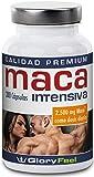 Maca Pura 200 Cápsulas de Alta Dosificación 2500 mg - PRECIO DE LANZAMIENTO - Original Raíz de Maca Andina - Hasta 7 Meses - Sin Estearato de Magnesio - Suplemento Alimenticio Alemán de Calidad de GloryFeel
