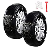 WeyTy Car Snow Chains, 6 Pieces, Anti Snow Anti-Slip Chains, Universal Tyre Snow