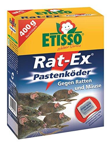 ETISSO® 1315-783 Rat-Ex® Pastenköder 400g (40x10g) gegen Ratten & Mäuse Innen & Außen