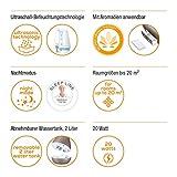 Beurer Luftbefeuchter LB 37 (mit mikrofeiner Ultraschall-Zerstäubung, leisem Nachtmodus, Aromafunktion) toffee - 2