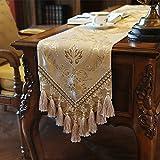 moderne Tischläufer Flaggen der Europäischen Stil Luxus Esstisch Side Cabinet Läufer Tisch TV-Läufer Abdeckung Tuch-E 30x220cm(12x87inch)