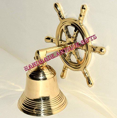 Tür Bell Wand aufhängen Rad Vintage Marine Marine Messing Schiff Glocke Calling