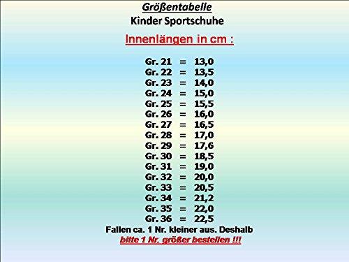 GIBRA® Kinder Sportschuhe, mit Klettverschluss, pink/weiß, Gr. 21-36 Pink/Weiß