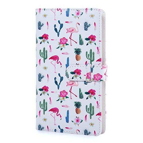 CAIUL PU-Abdeckung Mini Foto Album Für Instax Mini 9 8 8+ 90 70 7s 25 26 50s, Polaroid PIC-300 Z2300 Film (120 Fotos,Flamingo) (Mini-album 8x8)