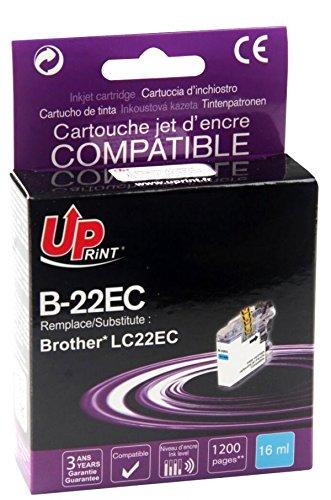 COMPATIBLE - 5 x Cartouche d'encre BROTHER - LC22EC - CYAN - Grande Capacité - Economique - QUALITE équivalente à la cartouche d'origine - Garanties et Assistance - Le Meilleur rapport Qualité/Prix - Expédié depuis la FRANCE