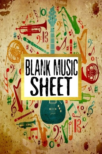 Blank Music Sheet: Manuscript Paper 8 Stave Music Journal Piano Guitar 6x9, 100 pages: Volume 2 por Alia Leone