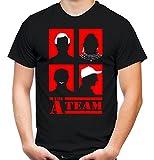 A-Team Männer und Herren T-Shirt | Spruch Hannibal B. A. Geschenk M4 (M, Schwarz)