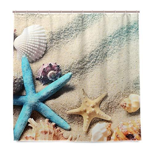 vinlin Seashell Beach Wasserdicht Badezimmer Zubehör Vorhang für die Dusche Badewanne Vorhang 182,9x 182,9cm