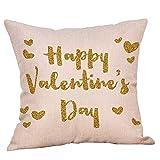 TianranRT Valentine 's Tag Polyester Bedruckt Sofa Auto Zuhause Dekoration Kissen Fall (C)