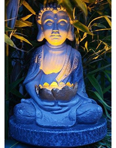 Home Line Figura de Buda Zen WABI-Sabi con lámpara Solar (24.8 cm)