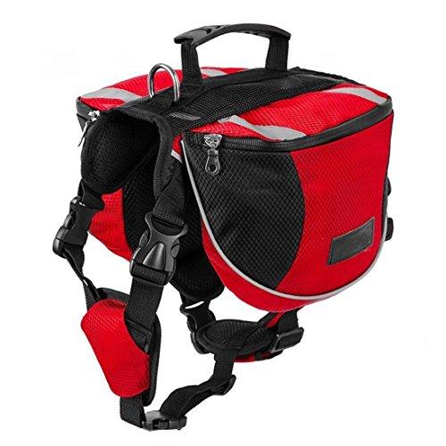 Hund Rucksack Wasserdicht Satteltasche Geschirr Wandern Gear Camping Training Tasche verstellbar groß