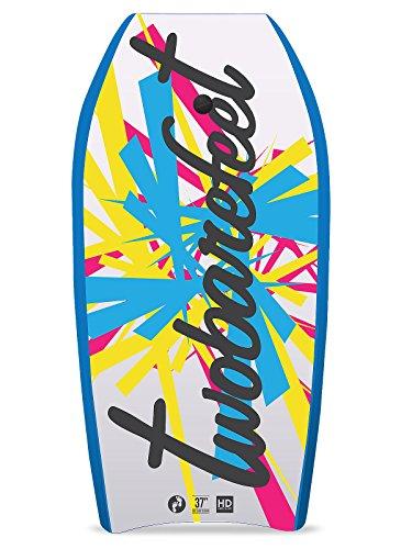 Glattes Board Bodyboard XPE & EVA-Kern, 94 cm, enthält Handgelenk-/Knöchelriemen, Herren, BB37, Blue Krayzee
