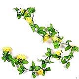 Y-H HY Hochwertige Kunstblumen Rattan Hochzeit Dekoration Blumenranken gelb
